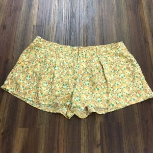 Joie silk pineapple shorts